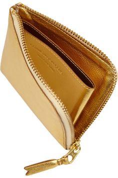 Comme des Garçons   Metallic textured-leather wallet   NET-A-PORTER.COM