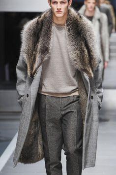 monsieurcouture:  Fendi F/W 2013 Menswear Milan Fashion Week mensstyle mensfashion coats & jackets greatcoats