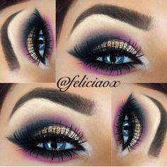 Eye make up. Gorgeous Makeup, Pretty Makeup, Love Makeup, Makeup Inspo, Makeup Art, Makeup Drawing, 80s Makeup, Witch Makeup, Makeup 2018