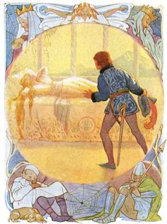 These illustrations came from:    Golding, Harry, editor. Fairy Tales. Margaret Tarrant, illustrator. London: Ward, Lock & Co., 1915.