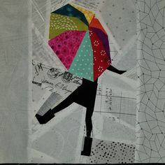 Finally got around to making this fun block by ❤❤❤☂️ joining For Big Block Quilts, Lap Quilts, Scrappy Quilts, Small Quilts, Mini Quilts, Quilt Blocks, Machine Embroidery Quilts, Applique Quilts, Paper Piecing Patterns