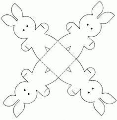 VELIKONOČNÍ Barevnost: Velikonoční zajíček papíru pro řemeslo PRINTABLE ČINNOST