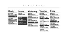 Timetable Design by ongzx