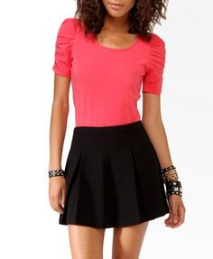 Lace Back Puff Sleeve Top  forever 21    $9.80