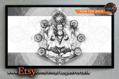 Minhas #artes viraram #quadros e estão agora no #Etsy!! https://www.etsy.com/shop/LoganPortela  #paint #art #illustration #poster #shiva #hindu #yoga #shakra #quadro #ilustração #decoration #decoração #sale #venda #loja #shop #logan #portela #loganportela #artesloganportela