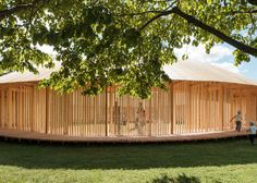 Pavilion conceived as a Danish alternative to London's Serpentine Gallery Pavilion.