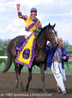 Go for Wand after winning the 1989 BC Juvenile Fillies - Daily Racing Form- Barbara Livingston