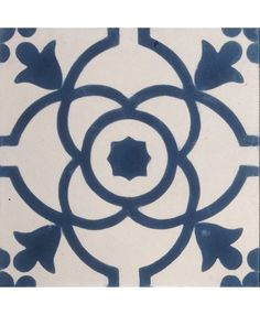 WC: Terrazzo, Macedonia Encaustic Cement Tile, similar deep blue to the ones you suggested by a slightly more 'period'/Gothic/Morris sort of pattern