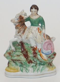 Girl on Goat Staffordshire Victorian Design, Makers Mark, Goats, Painting, Collection, Art, Decor, Products, Craft Art