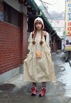 Mori Girl Fashion, Cute Fashion, Vintage Fashion, Women's Fashion, Fashion Outfits, Harajuku Mode, Harajuku Fashion, Asian Street Style, Japanese Street Fashion