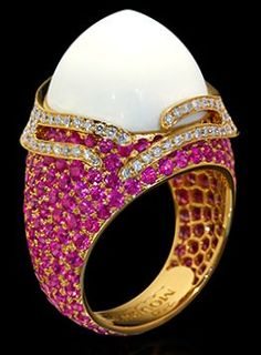 "Mousson Atelier New Age """"Fuji"""" Gold Koholong & Sapphire Ring R0053-0/3"