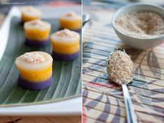 mini sapin sapin treats - OMG some people (my mom and sister) would love me if I could make this!