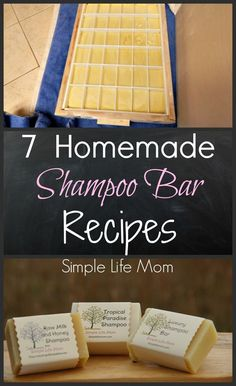 7 Homemade Shampoo Bar Recipes - cold process soap from Simple Life Mom
