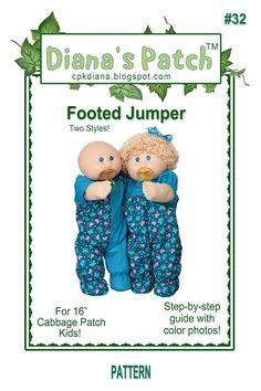 Kids Patterns, Doll Patterns, Clothing Patterns, Cabbage Patch Kids Clothes, Cabbage Patch Kids Dolls, Pretty Dolls, Pattern Paper, Doll Clothes, Jumper
