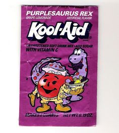 Wish they still made this, Five Alive and Ecto Cooler... the bonus is you can MAKE your own PurpleSaurus rex...just mix equal parts grape and lemonade!
