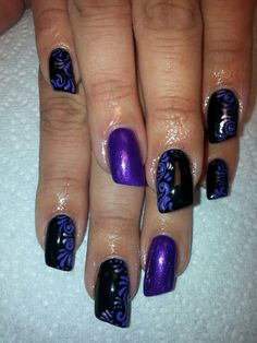 Acrylic nails by Yvonne Douglas Rodgers @ 810-687-7411