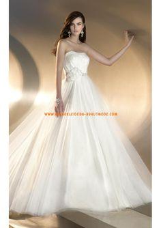 Modische Romantische Brautkleider 2013 aus Satin A-Linie mit Schleppe