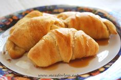 Easy Peach Pie Crescents with Caramel Sauce ~ Could Add Chopped Pecans ...