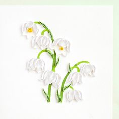 Lily of the Valley BL945 6 x 6 par QuillingCard sur Etsy