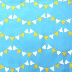 "Fabric Shelf - Children Organic Cotton fabric- Light Blue ""Little Bunting"""
