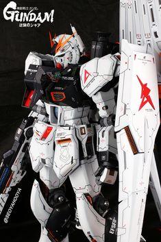 Neo Grade Nu Gundam - Customized Build Modeled by Seoyahooya I Robot, Frame Arms, Gundam Model, Mobile Suit, Plastic Models, Grade 1, Funny Memes, Marvel, Building