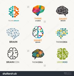 Of Brain, Creation And Idea Icons And Elements. Vector Illustrations - 260691224 : ShutterstockCollection Of Brain, Creation And Idea Icons And Elements. Design Logo, Icon Design, Cv Photoshop, Brain Vector, Brain Icon, Logo Luxury, Brain Logo, Clip Art, Education Logo