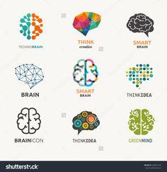 Of Brain, Creation And Idea Icons And Elements. Vector Illustrations - 260691224 : ShutterstockCollection Of Brain, Creation And Idea Icons And Elements. Design Logo, Icon Design, Cv Photoshop, Brain Vector, Brain Icon, Logo Luxury, Designers Gráficos, Brain Logo, Brain Art