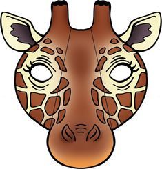 giraffe face mask with folding sides