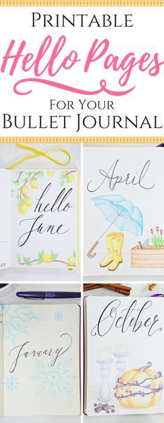 Say Hello to each new month with a Free Printable!