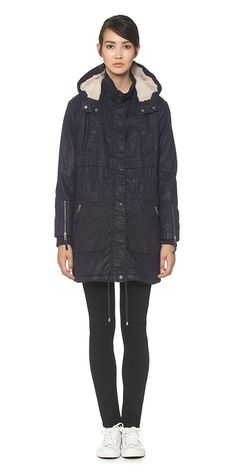 Waxy parka from Whistles £165