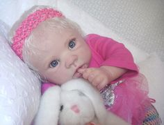 Krista Custom Reborn Doll Linda Murray Little Darlins Nursery Rita Meese artist #LittleDarlinsNursery