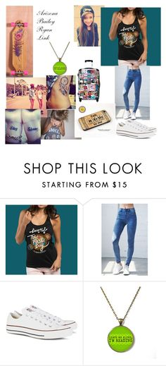 """""""Untitled #41"""" by imbored-477 ❤ liked on Polyvore featuring Bullhead Denim Co., Converse and IKASE"""