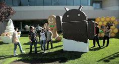 Google Ice Cream Sandwich Man: Celebrating its Android Mobile App, via nibletz #Installation #Ice_Cream_Sandwich_Man