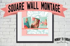 Check out Square Wall Portrait Montage by Amy J. Coe on Creative Market