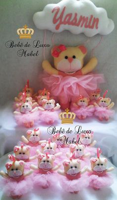 Enfeite de Porta-Maternidade e Lembrancinhas chaveiros Ursa Bailarina.