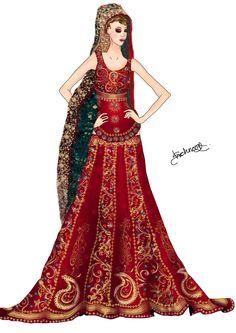 Pakistani Bridal Dress by Shehnoor2412.deviantart.com on @DeviantArt