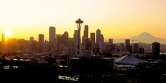 Seattle skyline Love this city Seattle Skyline, New York Skyline, Seattle Washington, Washington State, Pacific Coast, Pacific Northwest, San Juan Islands, City That Never Sleeps, Futuristic Architecture