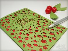Laser Cut Happy Holidays Card from Alexis Mattox Design