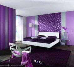 Purple and Lavender bedroom for purple dreams ♥♥