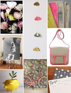 Poppytalk: It's a Pink, Chartreuse, Grey + Beige Day