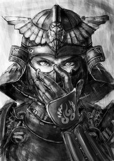 kämpfer tattoo vorlage, frau, schwarz weiße zeichnung