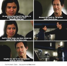 """#TheFlash 1x15 """"Out of Time"""" - Cisco and Dr. Wells........ I've cried so so so so so much"""