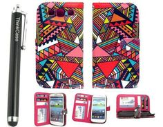 ThinkCase (TM) Red Tribal Design Samsung Galaxy S3 Tribal Wallet Credit Card Leather Wallet Tribal Design PU leather Wallet PU Leather Case Card Holder Flip Case Cover for Samsung i9300 Galaxy S3 III Colorful red with ThinkCase(TM) Stylus Pen, http://www.amazon.com/dp/B00D0REXIK/ref=cm_sw_r_pi_awd_SG36rb0EH273T