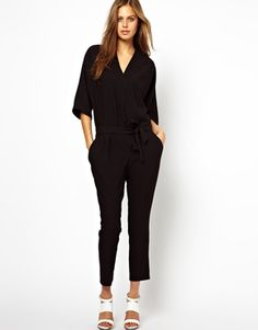 Image 1 of ASOS Jumpsuit with Tie Waist