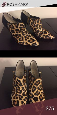 Leopard print Michael Kors booties Cutie bootie! These fabulous leopard print Michael Kors booties will add a POP to your wardrobe! MICHAEL Michael Kors Shoes Ankle Boots & Booties