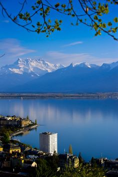 The hotel I stayed is the building sticking out is the BEST WESTERN Eurotel Riviera in Montreux, Switzerland
