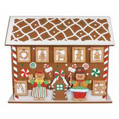 Wooden Gingerbread House Advent Calendar