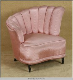 Powder Blue  2009 with  Patrick Swayze  1950's Pink Shell Back Lounge Chair used as a Movie Prop