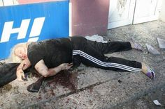 """UCRANIA """"I love when the pro-european bigots give me lectures about democracy, human rights, freedom of speech and economic growth. This picture was taken somewhere in Donetsk. She was probably a Russian terrorist murdered by the super-democratic and super-NATO bombs of Petro Poroshenko."""", """"I am forced to put on my wall the pictures that the Western lobotomizer media don't want to publish."""" #MiquelPuertas #Ucrania"""