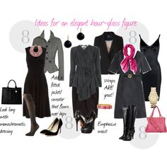 Ideas for an elegant hour-glass figure, created by professionality.polyvore.com